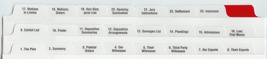 A Trial Notebook System for Litigation